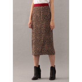 LOVELESS 【GUILD PRIME】レオパードタイトスカート その他 スカート,ベージュ
