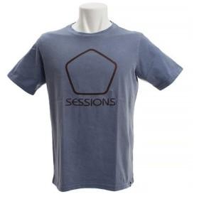 SESSIONS SHAPE OF THE LOGO 半袖Tシャツ 197065 NVY (Men's)
