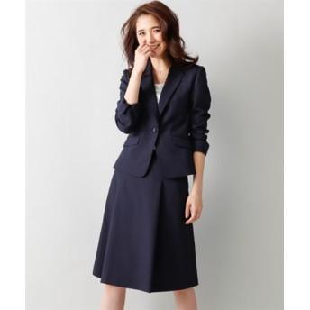 洗えるタックフレアスカートスーツ(スカートポケット付)【レディーススーツ】 (大きいサイズレディース)スーツ,women's suits ,plus size