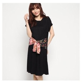 デシグアル Desigual ドレスショート袖 (グレー/ブラック)