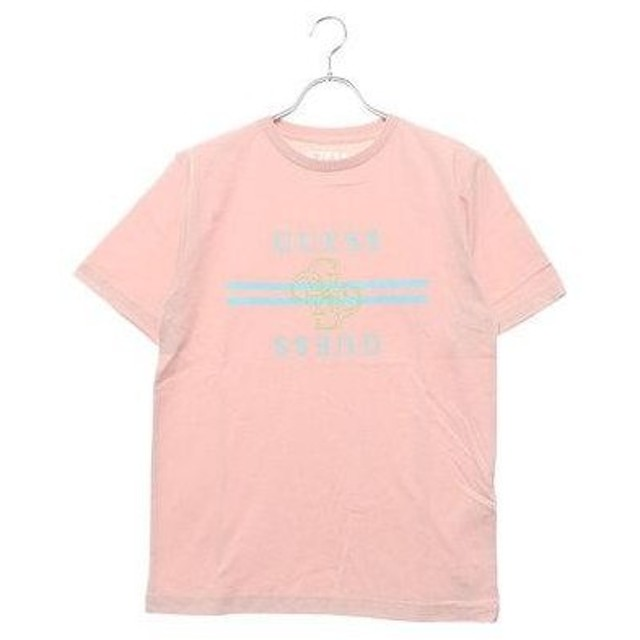 ゲス GUESS QUATRO G LINE LOGO TEE 【JAPAN EXCLUSIVE ITEM】 (LIGHT PINK)