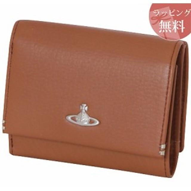 d69d0f79ea5e ヴィヴィアンウエストウッド 財布 折財布 三つ折り メンズ フィール キャメル Vivienne Westwood