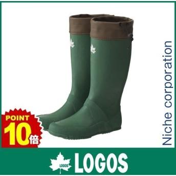 ロゴス レインウェア コンパクトレインブーツ ( グリーン ) アウトドア 長靴 緑
