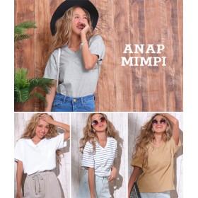 【セール開催中】ANAP(アナップ)ポケット付シンプルVネックTシャツ