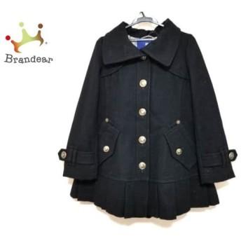 バーバリーブルーレーベル Burberry Blue Label コート サイズ38 M レディース 黒 プリーツ/冬物 スペシャル特価 20190414
