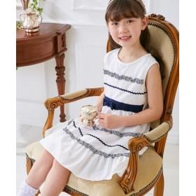 リボン付フォーマルワンピース(女の子 子供服。ジュニア服) ワンピース