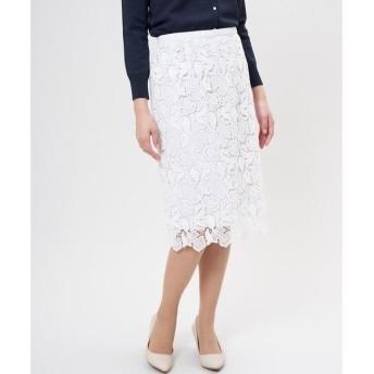 ef-de / エフデ 《Maglie White》ケミカルレースタイトスカート