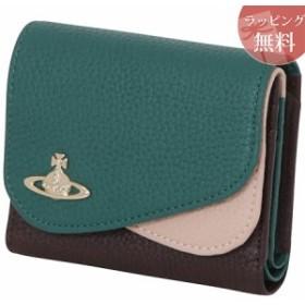 ヴィヴィアンウエストウッド 財布 折財布 二つ折り レディース ダブルフラップ グリーン Vivienne Westwood