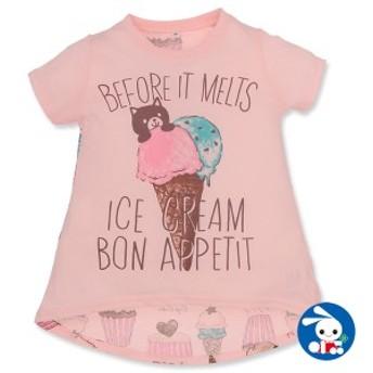 英字ロゴアイスクリーム半袖Tシャツ キッズ