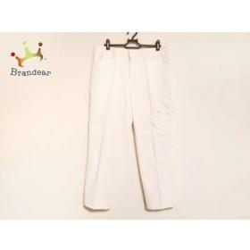 ジユウク 自由区/jiyuku パンツ サイズ46 XL レディース 白 センタープレス   スペシャル特価 20190616