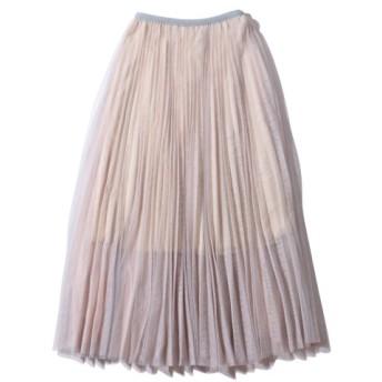 アトモスピンク atmos pink スカート プリーツシフォン スカート (BEIGE) 19SP-I