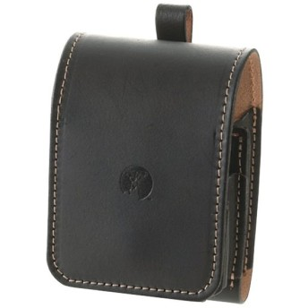 喫煙用品・ライター・灰皿 キャプテンスタッグ 牛本革アイコスケース幅広タイプ 黒艶消皮