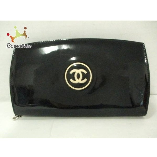 3765e0e10d2c シャネル CHANEL 長財布 メイクパレット 黒×アイボリー ラウンドファスナー エナメル(レザー) 値下げ