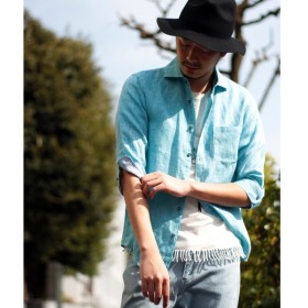 [マルイ] <新色追加>フレンチリネンシャツ(ホリゾンタルカラー、7分袖)/ラトルトラップ(RattleTrap)