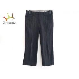 エムズグレイシー M'S GRACY パンツ サイズ38 M レディース 美品 黒×白 ストライプ    値下げ 20191008