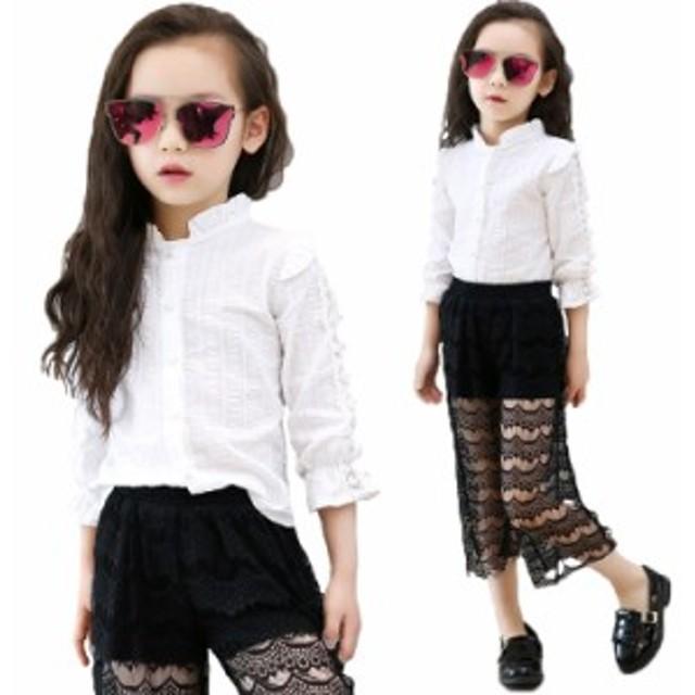 cd50498214fcf2 長袖ブラウス 女の子 シャツ 白 入学式 子供服 キッズ フォーマル 女の子 子供 合唱 発表会