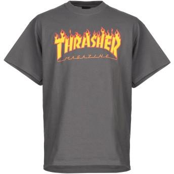 《9/20まで! 限定セール開催中》THRASHER メンズ T シャツ グレー S コットン 100%
