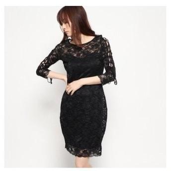 ゲス GUESS SUSANNA DRESS (JET BLACK)