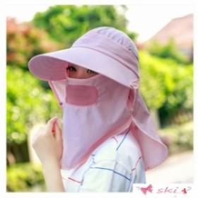 紫外線対策用ハット 帽子 4way日よけ帽子 釣りキャンプアウトドア農作業 コットン&首元ガード仕様 UVカット メンズ レディース