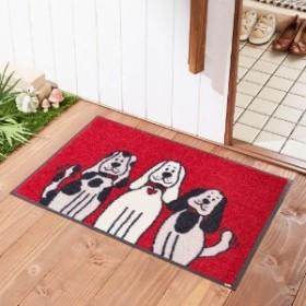 3匹の犬柄の泥落とし屋外玄関マット