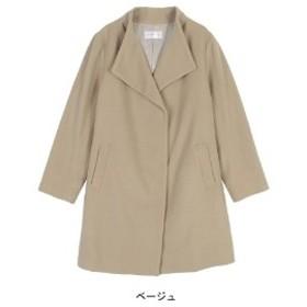 【57%OFF】スタンドカラーコート【L~5L】
