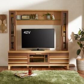 タモ材の壁面テレビ台