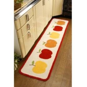 フルーツ柄のキッチンマット