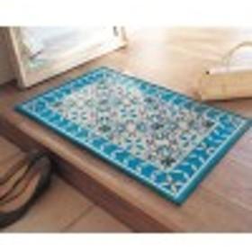 オリエンタルデザインのゴブラン織りすべりにくい玄関マット