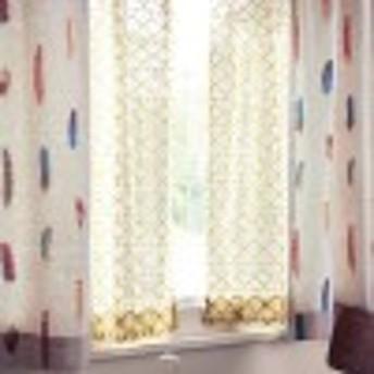 キリム柄のパイルレースカーテン