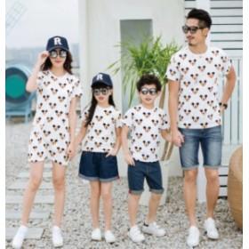 親子Tシャツ☆T-shirt disney ディズニー ロンパース ペアルック カップル ベビー服ミッキー柄 半袖 親子ペア お揃い 可愛い