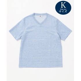 【オンワード】 JOSEPH ABBOUD(ジョセフ アブード) 【キングサイズ】リネンTOPコードレーン Tシャツ サックスブルー 2L メンズ 【送料無料】