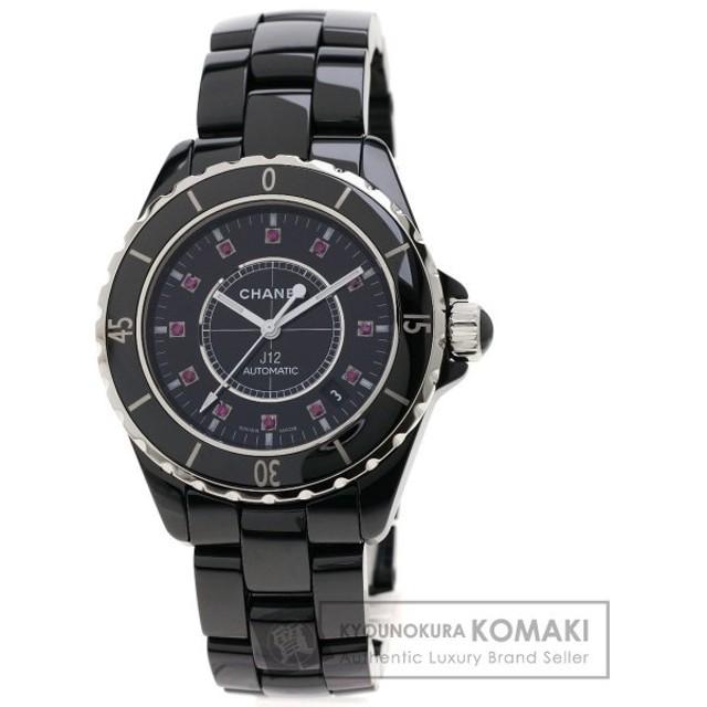 10c1717ae661 CHANEL シャネル H1635 J12 38 12Pルビー 腕時計 セラミック/セラミックxSS メンズ 中古