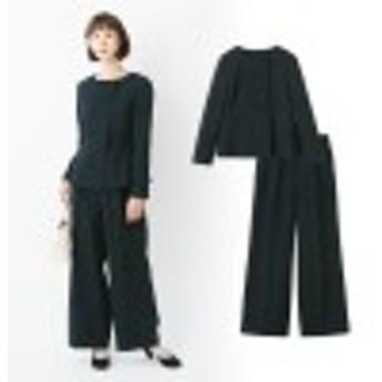 ぺプラムジャケット&パンツ セットスーツ