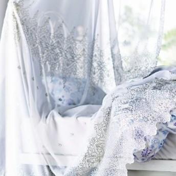 トルコ刺繍のレースカーテンヤドリギ