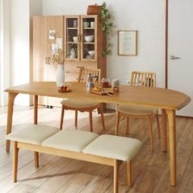 【イージーオーダー】天然木の変形ダイニングテーブル