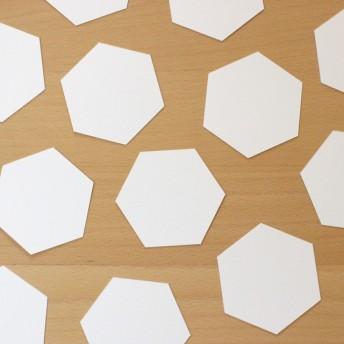 六角形のメッセージカード