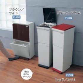 キッチン・リビング用ペダル式2段分別ゴミ箱38/40L
