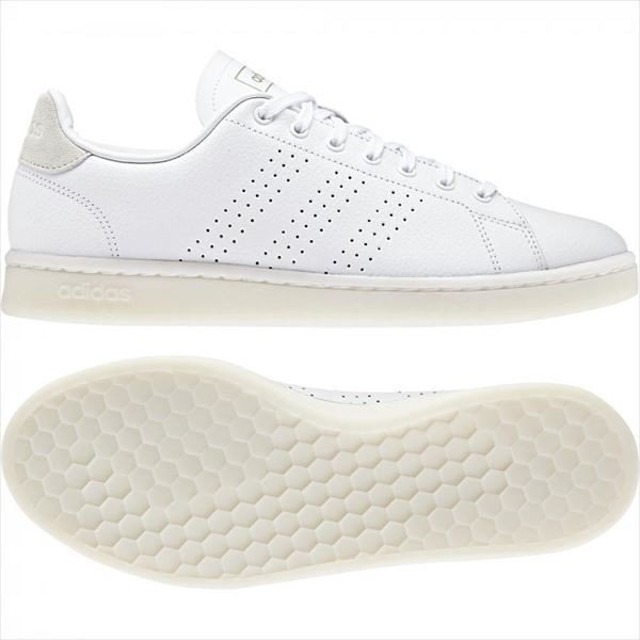 [adidas]アディダス メンズカジュアルシューズ ADVANCOURT LEA M (F36469) ランニングホワイト/ランニングホワイト/ローホワイトS19[取寄商品]