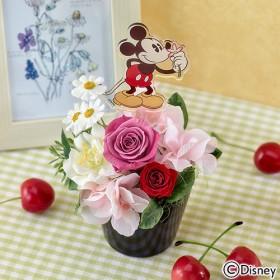 【日比谷花壇】ディズニー プリザーブド&アーティフィシャルアレンジメント「アローム ミッキー」