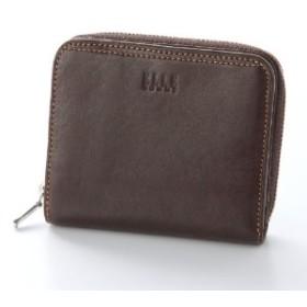 メンズ シープスキンラウンドファスナー財布