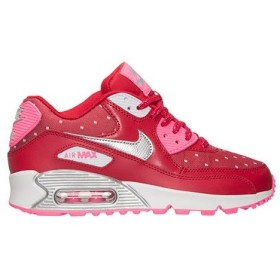 NIKE AIR MAX 90 PRINT GS エア マックス 90 GS 【GIRL'S】 dark red/pink pow/white/metallic silver 704953-602