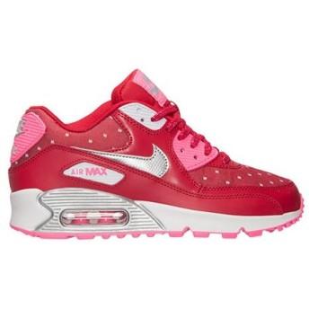 NIKE AIR MAX 90 PRINT GS エア マックス 90 GS 【GIRL'S】 dark red/pink pow/white/metallic silver 704953-602