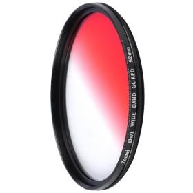 Lovoski  DSLR カメラ用 超薄型フレーム 赤色 カラーフィルター グラデーションフィルター 40.5-82mm選ぶ - 52mm