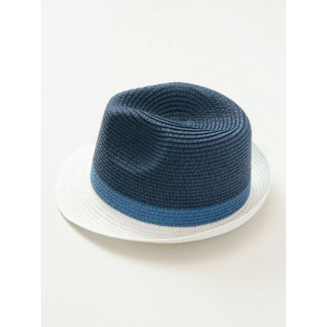 帽子全般 - チャイハネ 【Kahiko】ボーダーカラー中折れペーパーハット