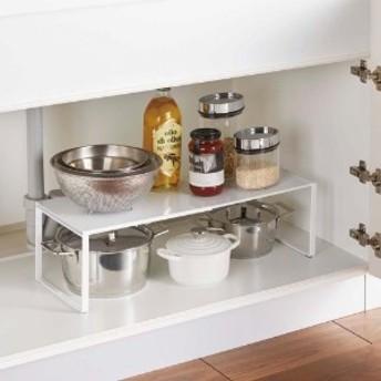 キッチンカウンターでも使える 伸縮式シンク下収納棚