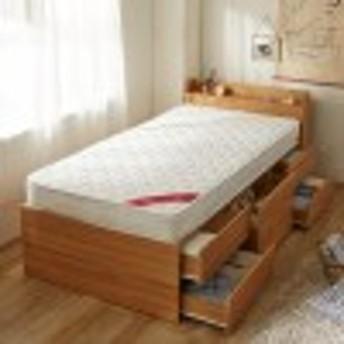 大量収納シングルベッド(圧縮マットレス付き)