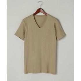 <シーク/SEEK> 年間素材/VネックTシャツ(EE1514A) 44・スキンベージュ【三越・伊勢丹/公式】