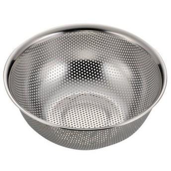 アクアシャイン ステンレス製 パンチ ボール型 ザル 21cm H-9131 パール金属