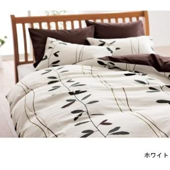 リーフ柄の日本製綿100%掛け布団カバーmee