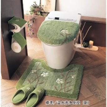 アップリケ刺繍のトイレマット・フタカバー(単品・セット)
